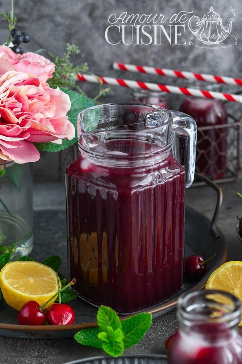 limonade rafraichissante aux cerises