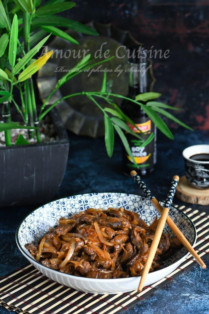 boeuf sauté aux oignons recette chinoise