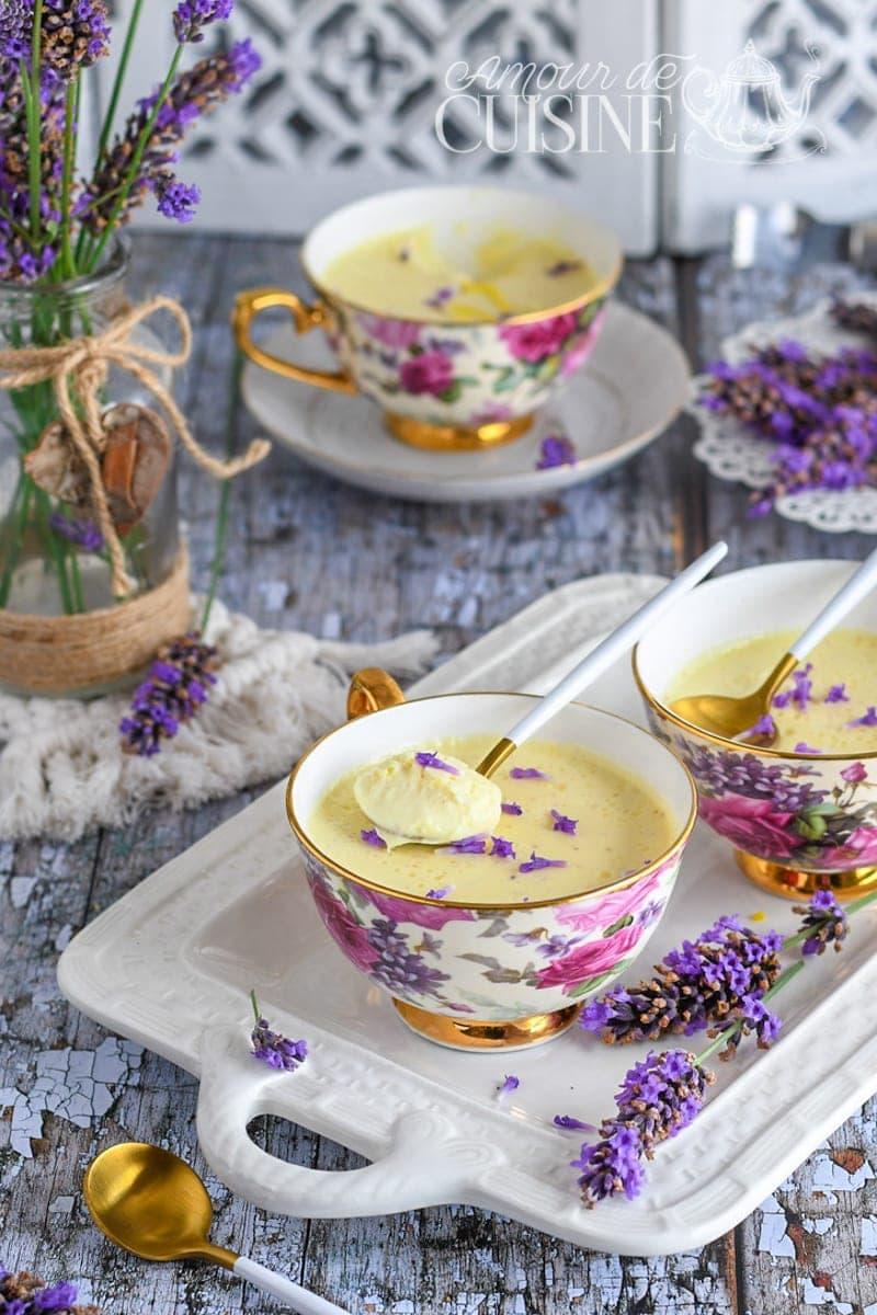 crème de citron à la lavande Lavender Posset