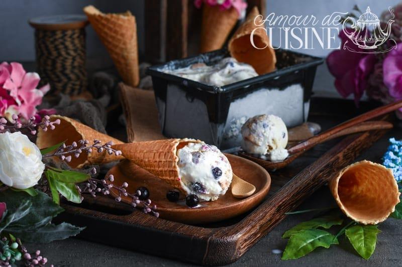 crème glacée au mascarpone et fruits d'été