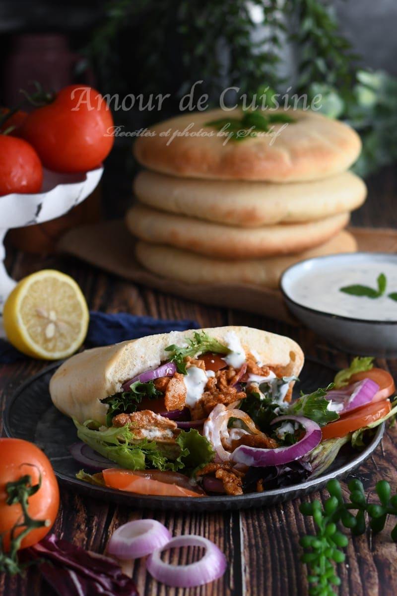 kebab au poulet fait maison