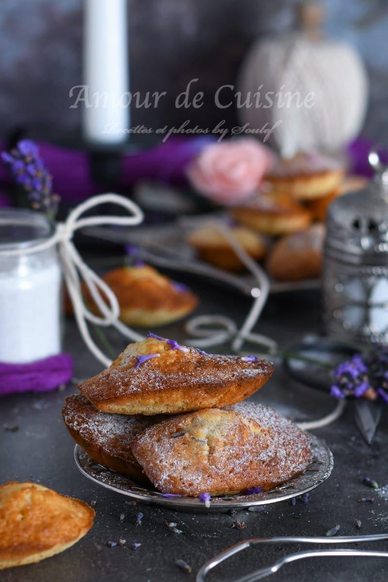 madeleines au miel et lavande