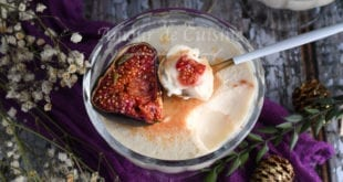 panna cotta aux figues roties