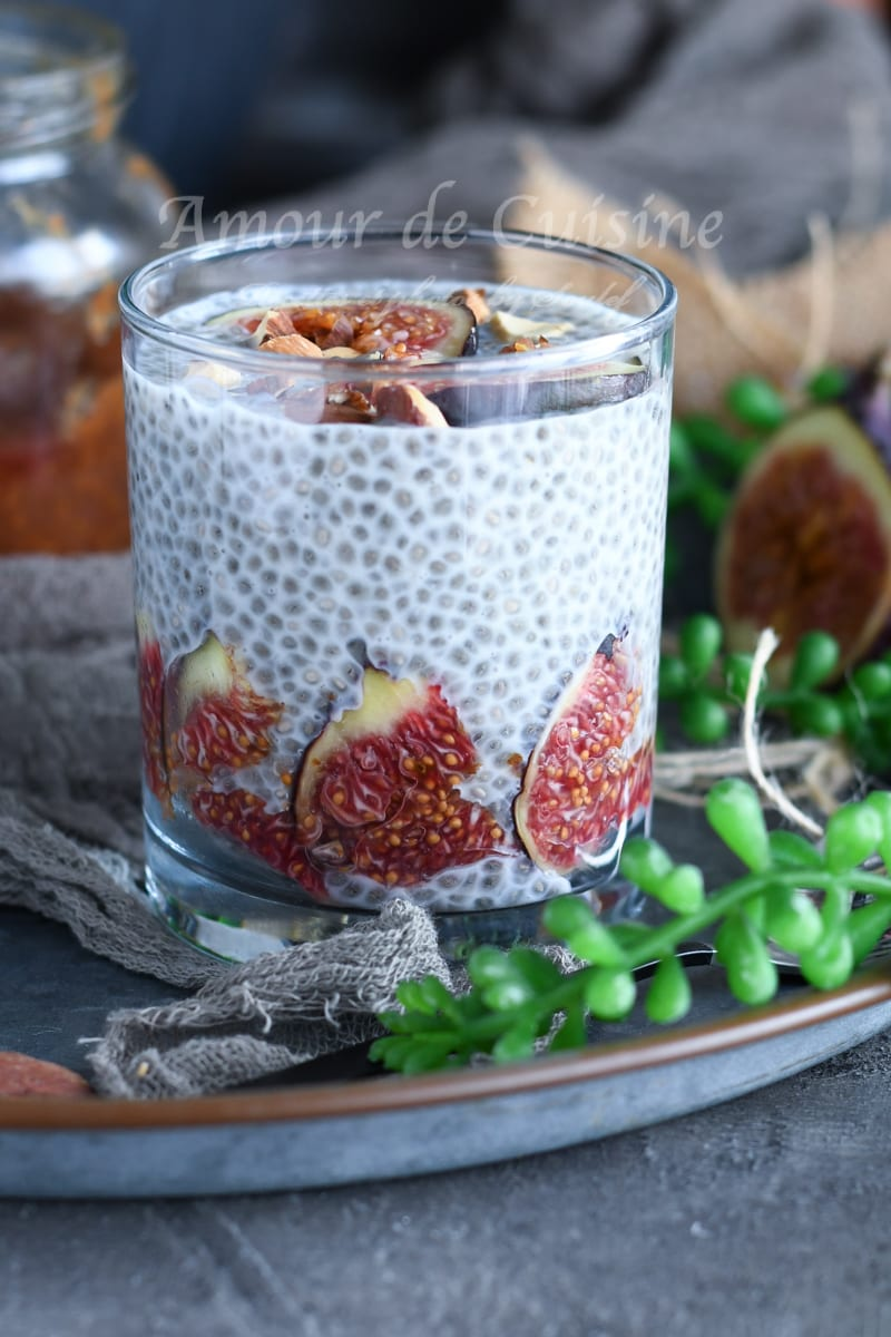 pudding de chia aux figues