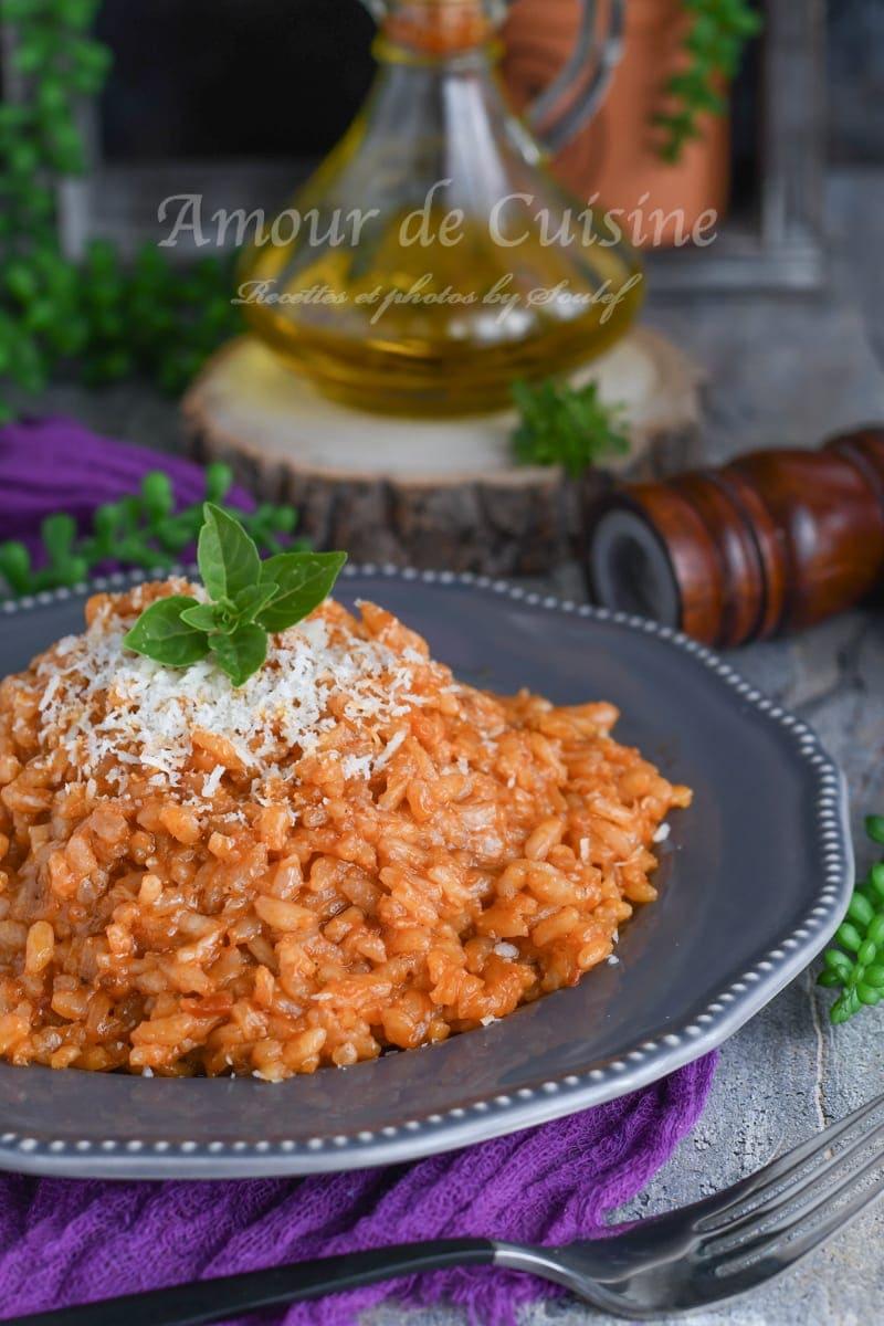 risotto a la tomate facile