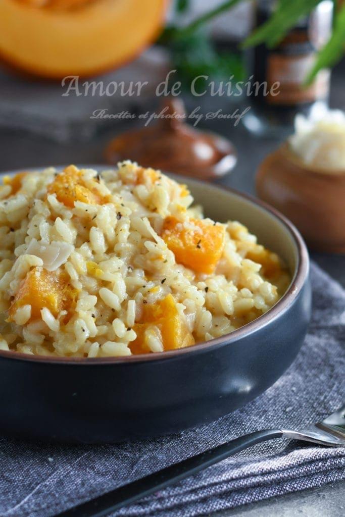 recette de risotto au potiron facile