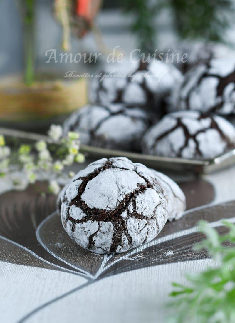 Crinkles biscuit Craquelé au Chocolat