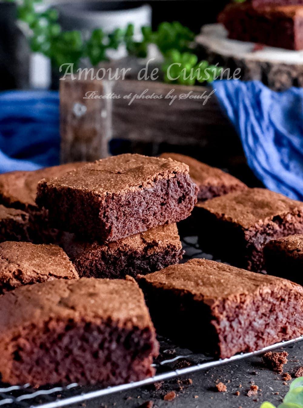Brownie au chocolat fondant et moelleux