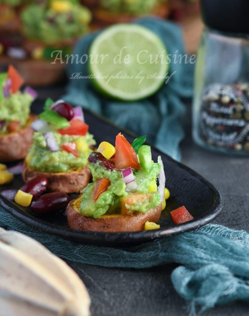 Bouchée patate douce et guacamole