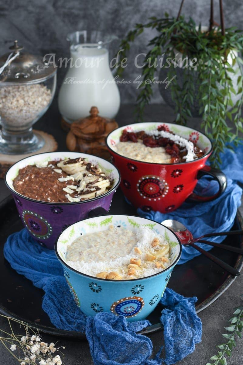 Idées porridge bowl pour petit déjeuner