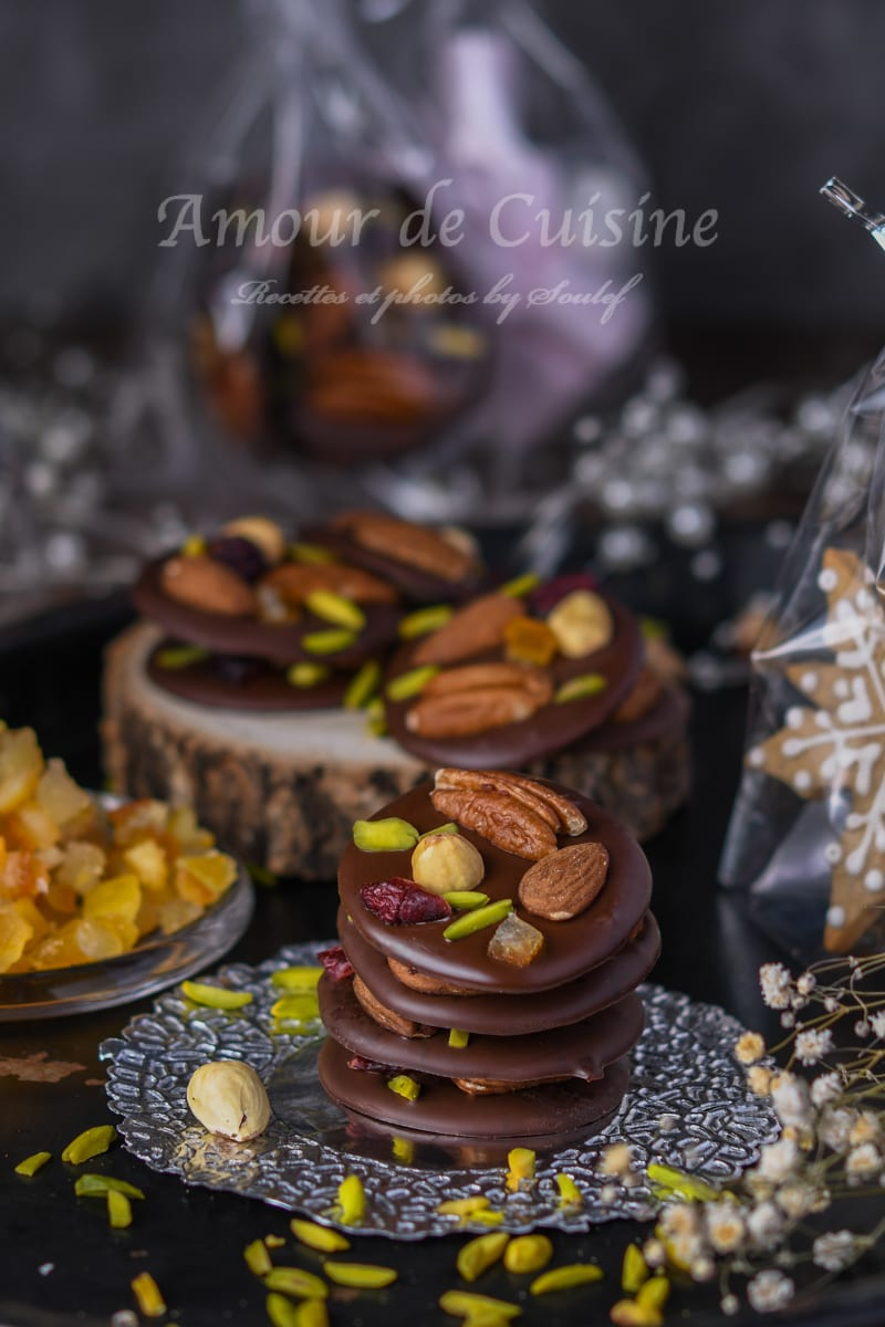 les mendiants au chocolat - cadeau gourmand