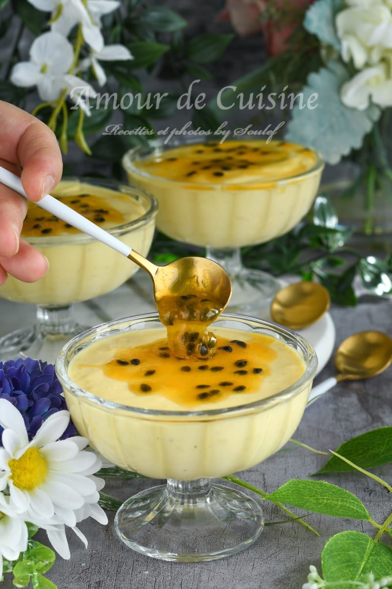 Mousse aux fruits de la passion