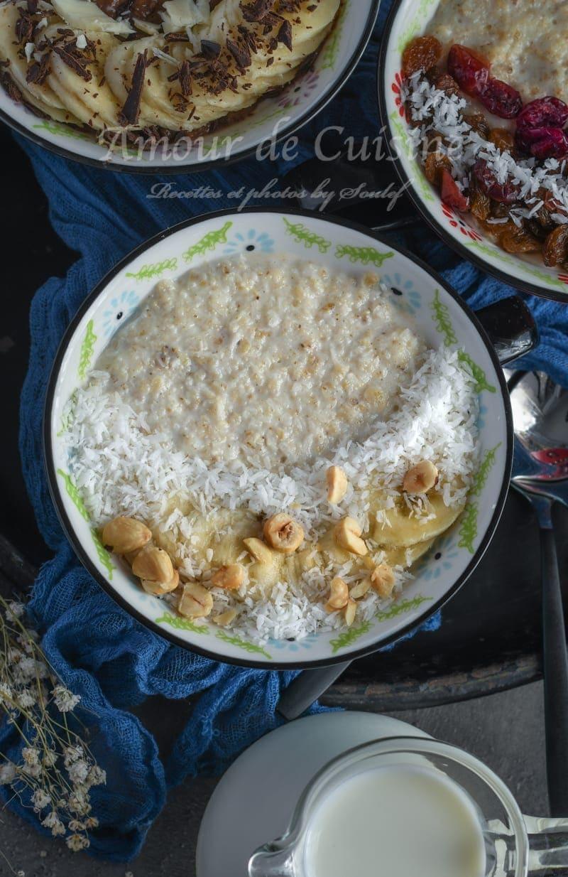 porridge bowl pour petit déjeuner