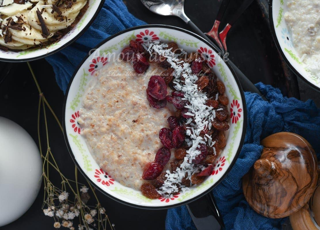Énergie bol aux raisins secs