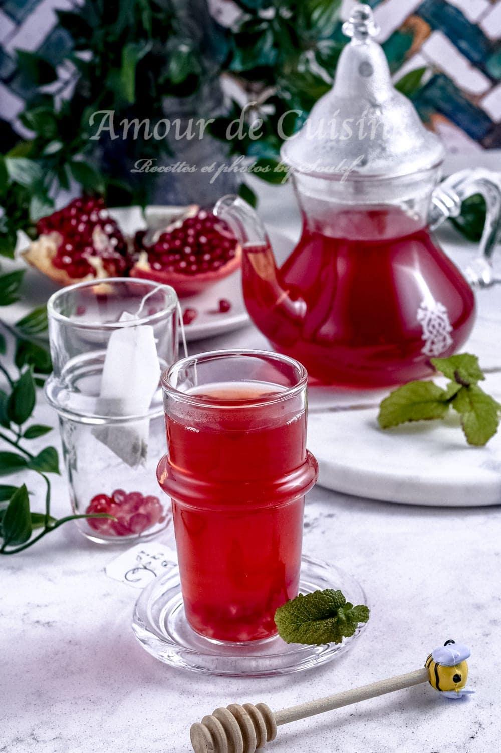 Thé detox à la grenade et gingembre