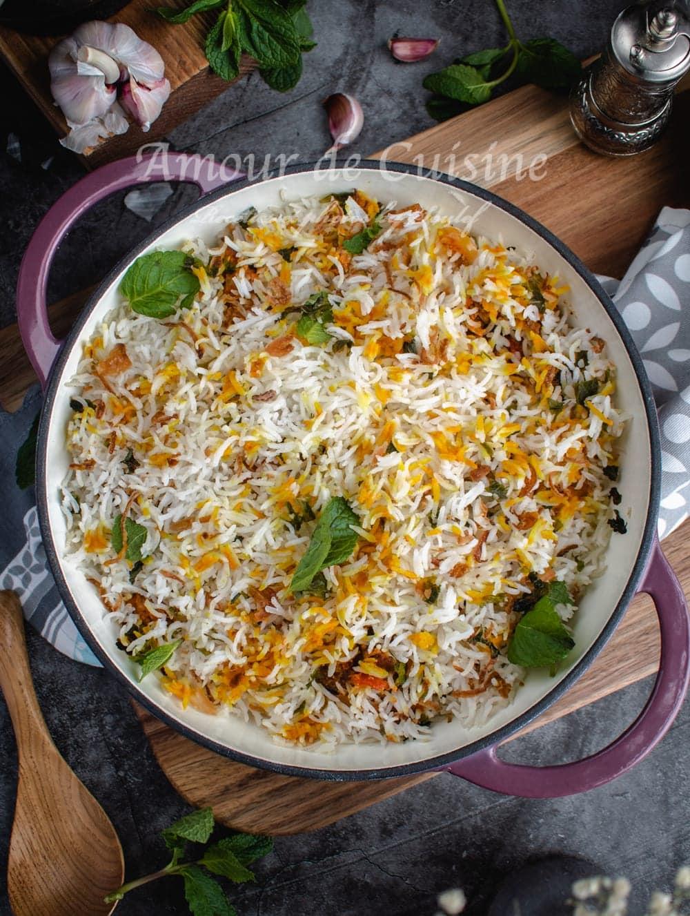 Biryani végétarien au chou fleur