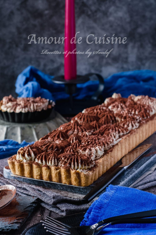 tarte tiramisu à la ganache au chocolat