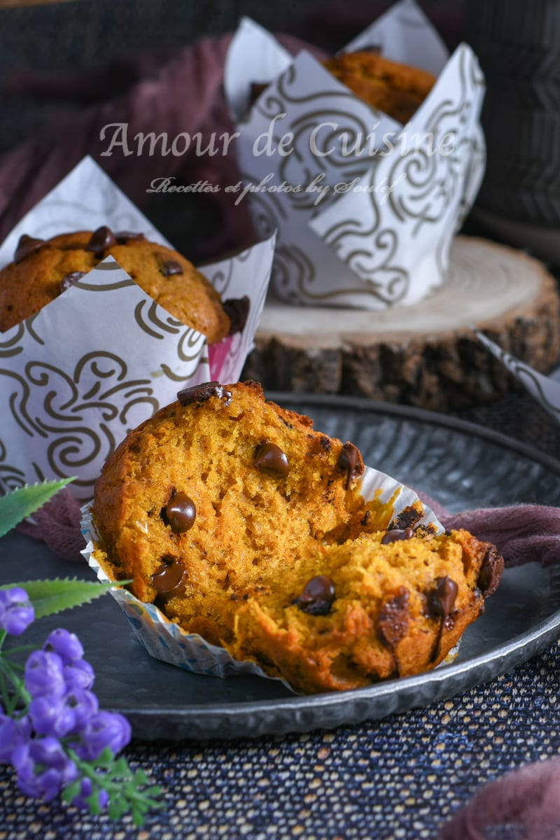 muffins au potimarron et pépites au chocolat