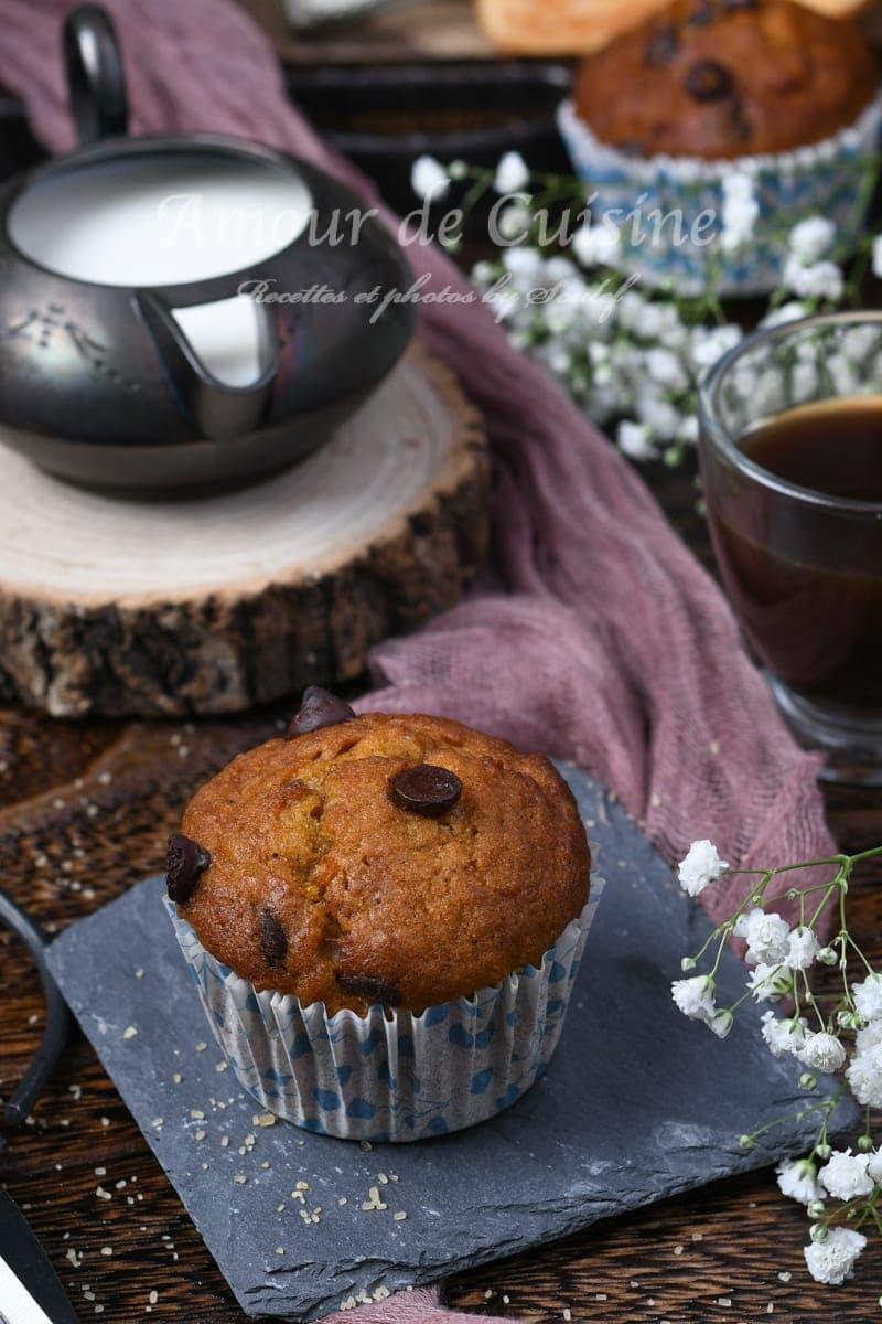 muffins au potimarron et pepites au chocolat