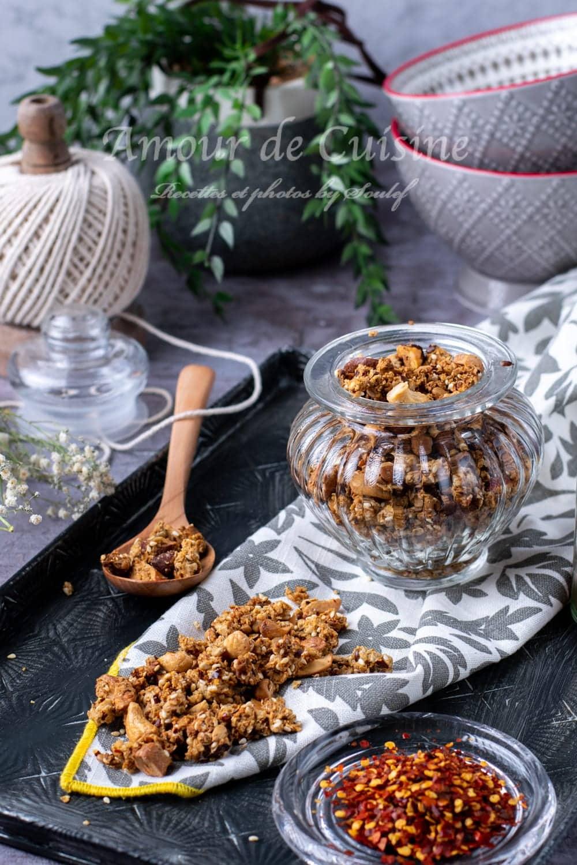 granola salé aux noix de cajou