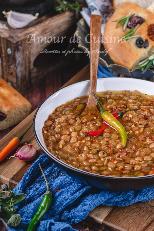 recette de lentilles vertes à l'algerienne