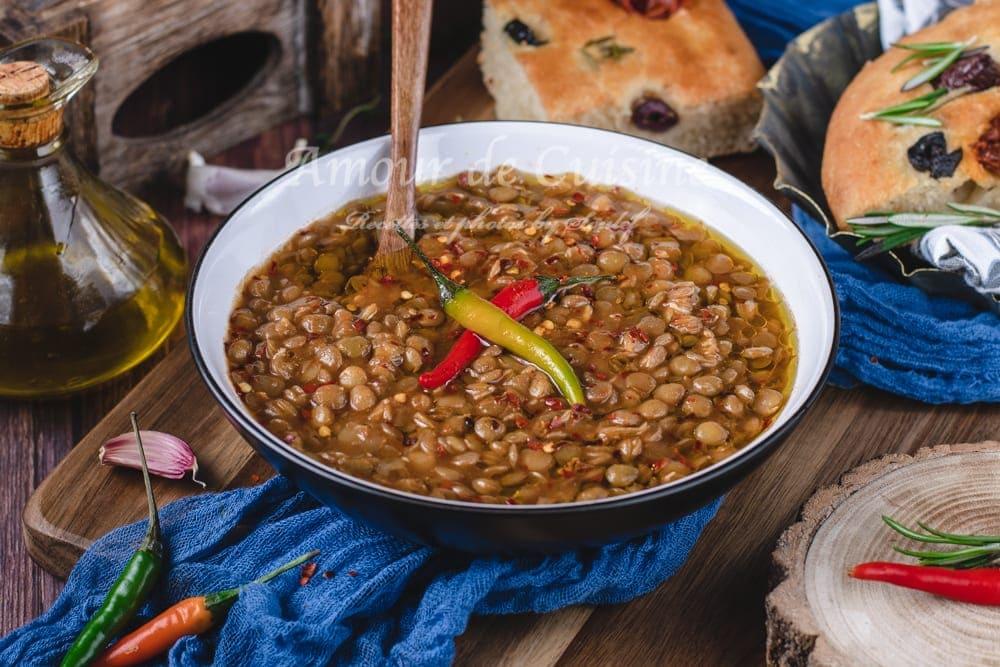 Recette de ragoût de lentilles vertes à l'algerienne