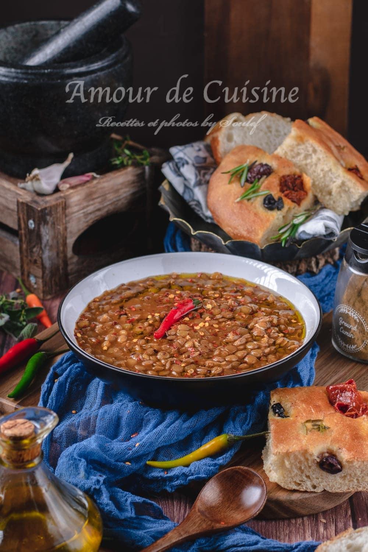 Ragoût de lentilles vertes à l'algerienne