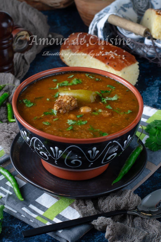 Soupe tunisienne ou chorba à la tchicha
