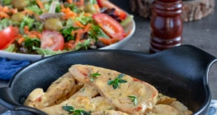 Aiguillettes de poulet à la moutarde et gingembre