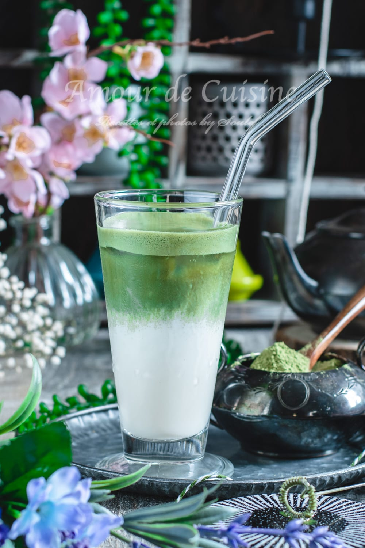 recette du latte au thé vert matcha frais