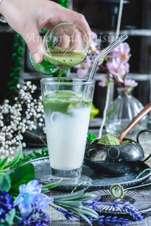 latte au thé matcha, boisson froide
