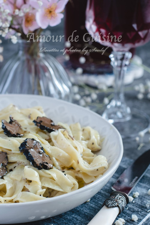 Tagliatelles à la truffe et crème de Pecorino