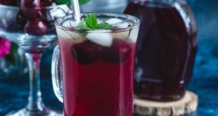 Thé glacé detox aux cerises