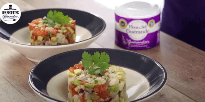 ceviche de poisson à la Fleur de sel de Guérande