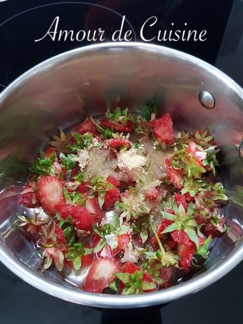 queues de fraises en sirop