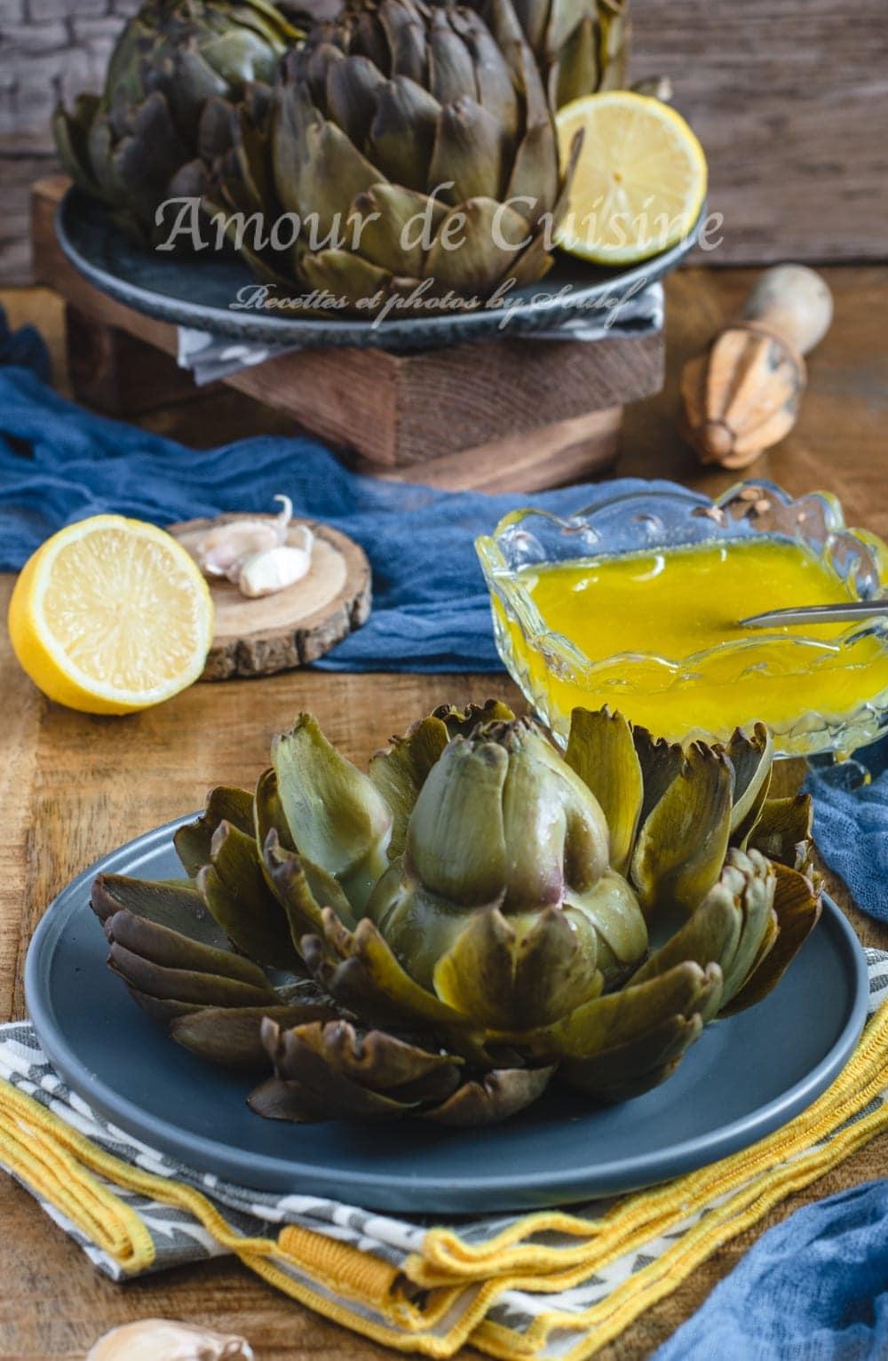 Salade dartichauts à la vinaigrette au citron