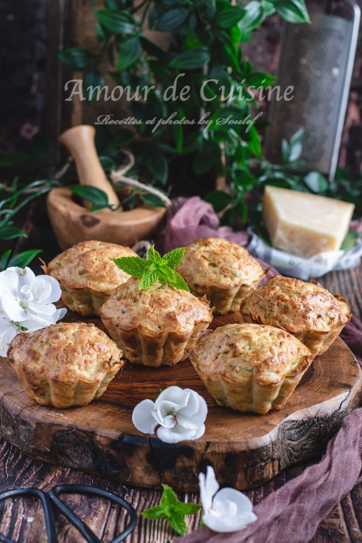 Muffins salés aux courgettes et parmesan