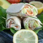 Wraps au saumon fumé facile
