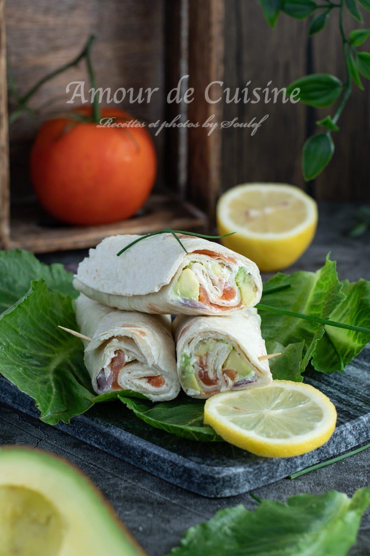 Wraps au saumon fumé facile plat froid