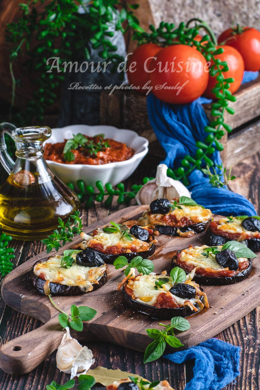pizza aubergines mozzarella sauce tomate