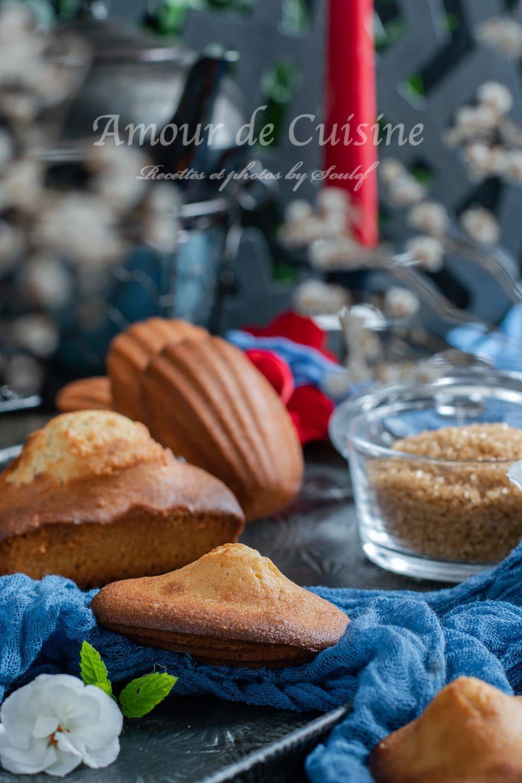 Madeleines au sucre brun