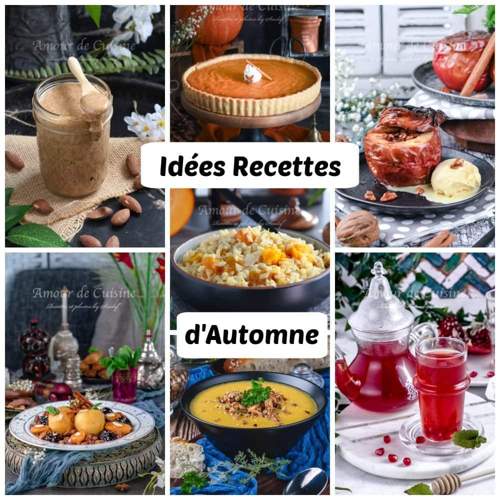 Idées de recettes d'automne ( soupes, plats et desserts)