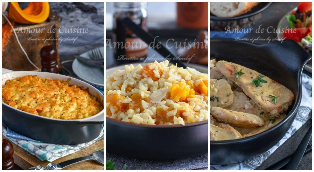 les plats d'automnes