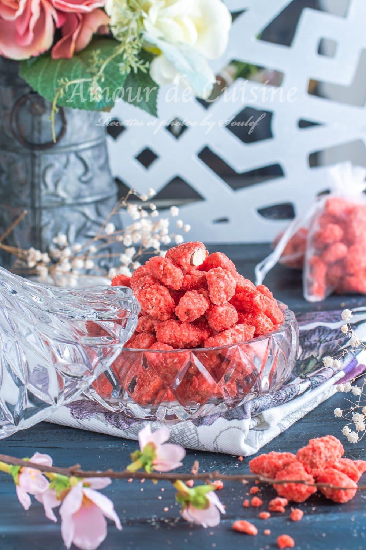 Pralines roses maison faciles